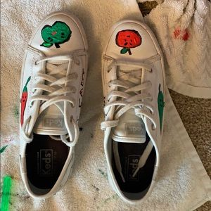 HANDPAINTED APPLE AND PEPPER SHOES
